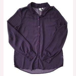 14th Union Top Blouse shirt polka dot size M